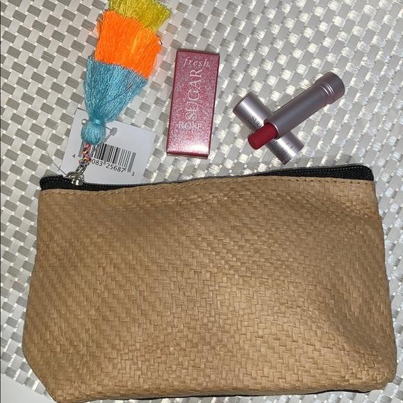 fresh Other - Fresh Sugar Rose Lip Treatment and cosmetics bag